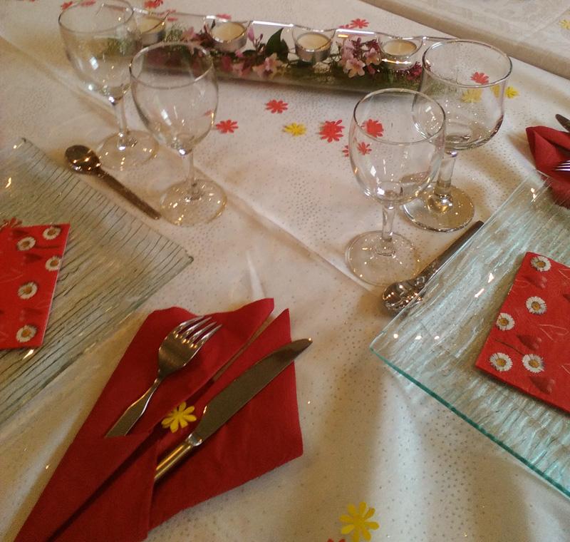 decoration gite table